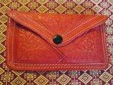 Leren portemonnee rood_