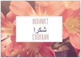 Wenskaart Chokran / Bedankt_