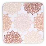 Mandala onderzetters set van 6 (roze)_