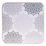 Mandala onderzetters set van 6 (grijs)_