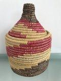 Berber mand riet groot naturel/rood_