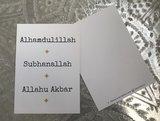 Kaart Alhamdulillah-Subhanallah-Allahu Akbar_
