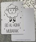 Ballonnen met wenskaart Eid Al-Adha Mubarak_