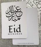 Ballonnen met wenskaart Eid Mubarak kalligrafie_