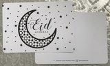 Ballonnen met wenskaart Eid Mubarak Maan & Sterren_