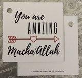 Vierkant geschenkkaartje  You are amazing Macha'Allah_