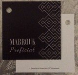 Vierkant geschenkkaartje Mabrouk _