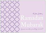 Wenskaart Ramadan Mubarak paars_