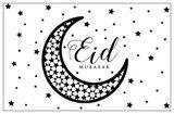 Geschenkkaartje 'Eid Mubarak maan & sterren'_