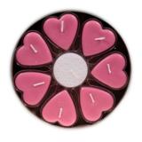 Hartvormige geurkaarsjes stearine - kersenbloesem (8 kaarsjes)_