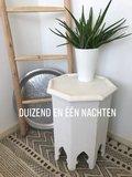 Houten bijzettafel wit_