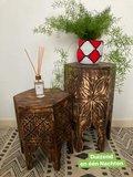 Houten bijzettafeltje Morocco m1_