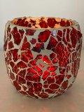 Kaarshouder India mozaiek rood_