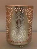 Kaarshouder India lotus zilver_