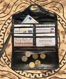 Clutch/portemonnee drieluik Fez 'petrol'_