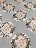 "Glossy stickers ""Eid Mubarak""  flowers 10 stuks_"