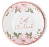 Set van 6 kartonnen borden 'Rosegold Flowers'_