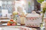 Stickers Eid Mubarak 'Rosegold Flowers' 10 stuks_