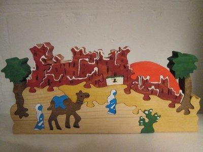 Houten Arabische puzzel decoratie camel