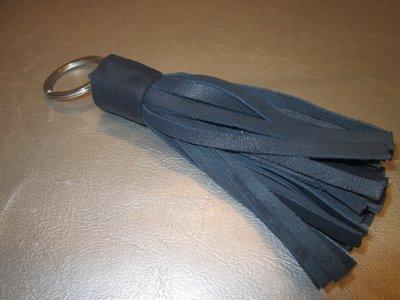 Sleutelhanger leder floche (blauw)