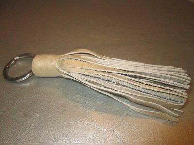 Sleutelhanger leder floche (beige)