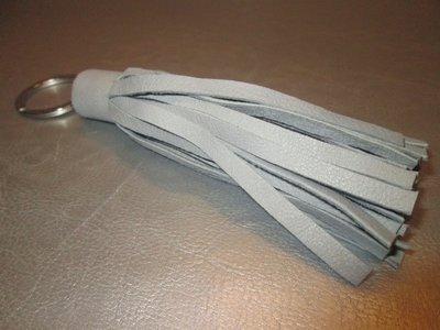 Sleutelhanger leder floche (grijs)