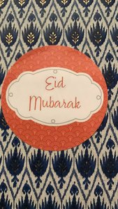 Stickers Eid Mubarak 'orient' set van 10
