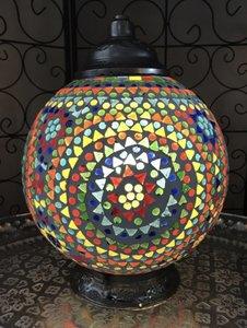 Mozaïek tafellamp multi color
