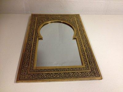 Koperen spiegel Marokko (16,5x25,5 cm)