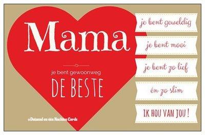 Geschenkkaartje 'mama'