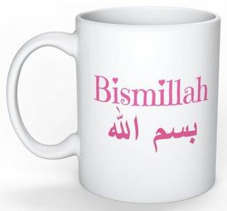 Koffietas/mok  Bismillah rose