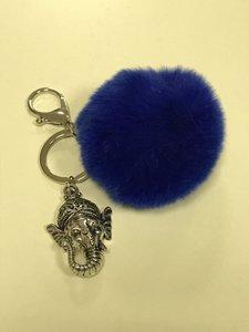 Tashanger / sleutelhanger Ganesha blauw