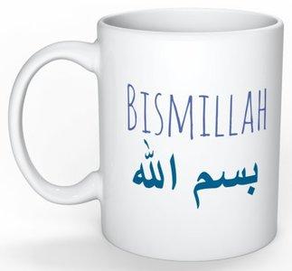 Koffietas/mok  Bismillah blauw