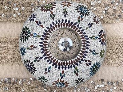 Mozaïek plafonnière multicolor