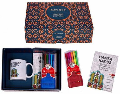 Hand van Fatima geschenkset (mok, kleurboekje en set stiften)
