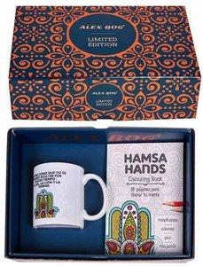 Hand van Fatima geschenkset (mok en kleurboekje)