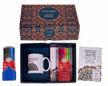 Mandala geschenkset (mok, kleurboekje en set stiften)