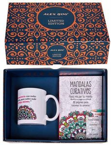 Mandala geschenkset (mok en kleurboekje)