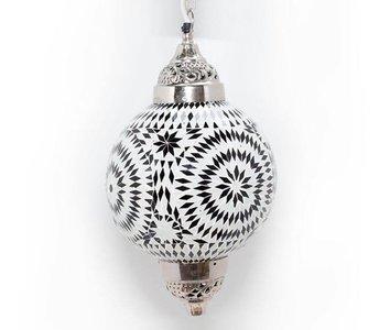 Mozaiek luster black & white
