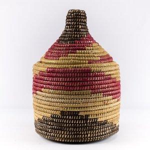 Berber mand riet groot naturel/rood
