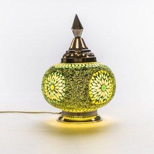 Mozaïek tafellamp groen
