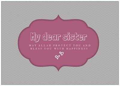 Wenskaart My dear sister