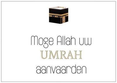 Wenskaart Moge Allah uw UMRAH aanvaarden