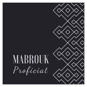 Vierkant geschenkkaartje Mabrouk
