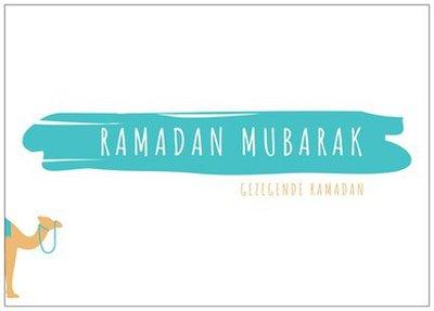 Wenskaart Ramadan Mubarak kameel