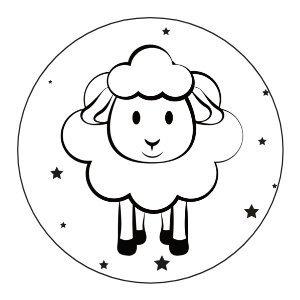 Glossy stickers Eid Mubarak 'schaap' 8 stuks