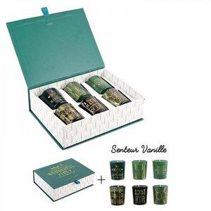 Geschenkbox met 6 geurkaarsen