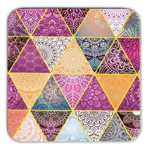 Mandala  onderzetters patchwork set van 6