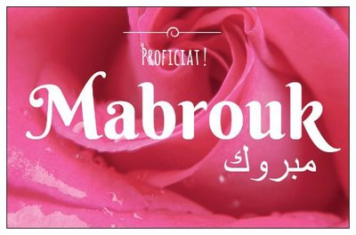 Geschenkkaartje 'Mabrouk'