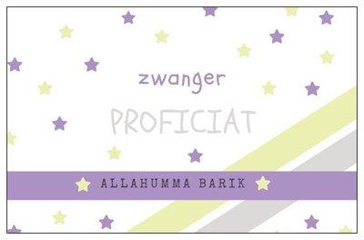 Geschenkkaartje 'zwanger'
